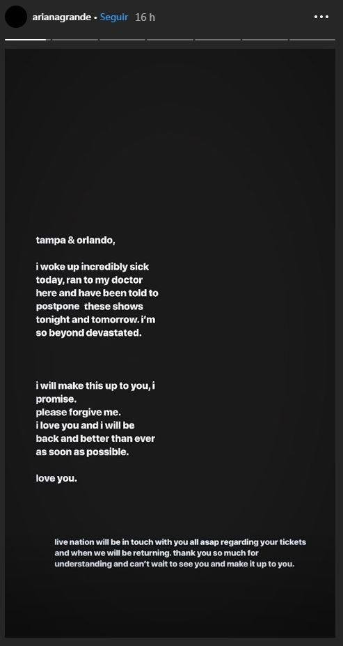 'Storie' de Ariana Grande